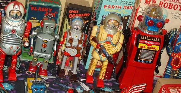 vintage sapce toys antique toy appraisals robots Vintage space toys auctions, ebay space toys for sale, buddy l troys for sale ebay,  tin japanese robots tin toys japan