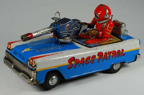vintage space toys buddy l cars japanese tin robots, linemar tin toy space ships, alps tin toy robot, buying japan and american antique toy trucks, cars, robots,  free accurate toy appraisals quick antiqeut toy appraisals keystone trucks