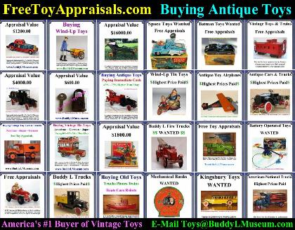 buddy l truck price guide, free toy appraisals, buddy l catalog for sale, buddy l parts, sturditoy truck parts