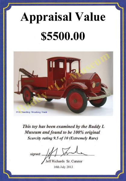 Free Antique Toys Price Guide ~ Buddy L Museum