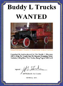 antique 1920's buddy l wrecker truck, vintage buddy l baggage truck, buddy l toys price guide, buddy l trucks identification, ebay, keystone toys price guide, sturditoy trucks values